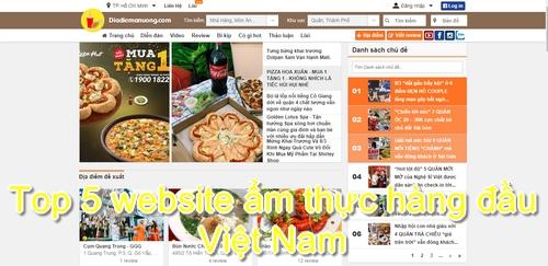 Top 5 website ẩm thực hàng đầu Việt Nam