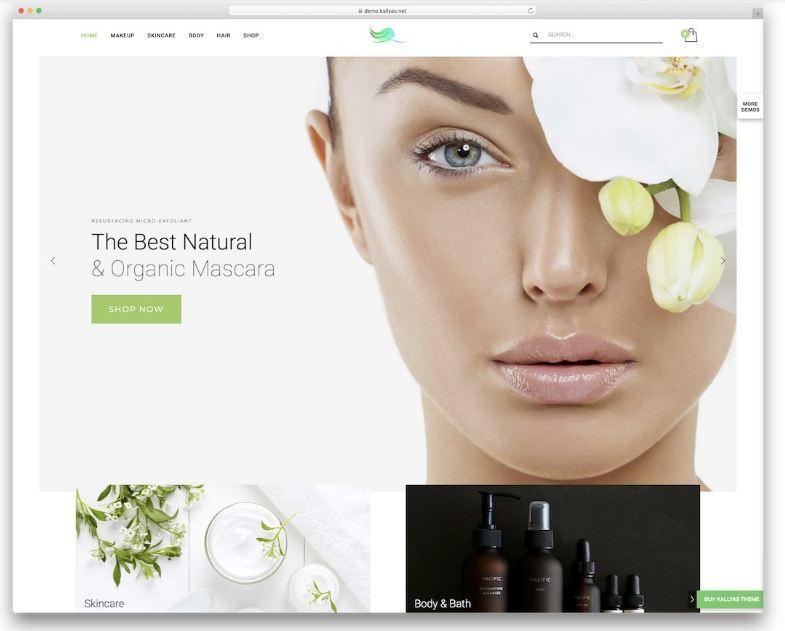 Kallyas là mẫu website xây dựng trang thực tế