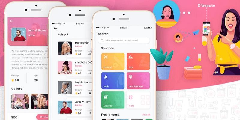 thiết kế app spa